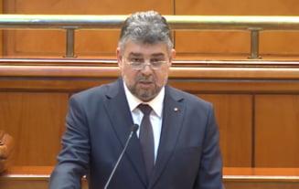 """Marcel Ciolacu a venit la tribuna parlamentului, si-a scos masca si a spus: """"O sa stearga microfonul, sa nu fie probleme"""""""