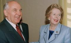 Margaret Thatcher l-a placut pe Mihail Gorbaciov de la prima intalnire