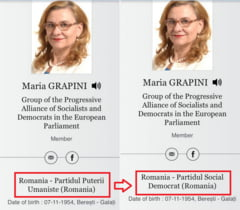 Maria Grapini a devenit peste noapte membra PSD, desi luni inca mai aparea in partidul lui Dan Voiculescu