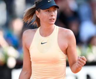 Maria Sharapova s-a calificat in sferturi la Roma