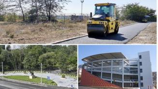 Marile inaugurari in pripa din pragul alegerilor: parcari, asfaltari, stadioane, crese si gradinite
