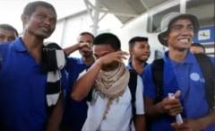 Marinari eliberati dupa mai mult de 4 ani de piratii somalezi: Au fost fortati sa manance sobolani