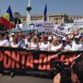 "Mars PMP la 2 ani de la suspendarea lui Basescu: ""Jos Ponta"", ""Mai bine basisti decat santajisti"""