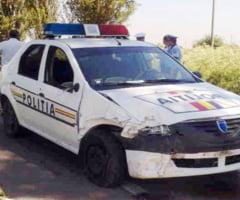 Masina Politiei Gradistea, implicata intr-un accident rutier