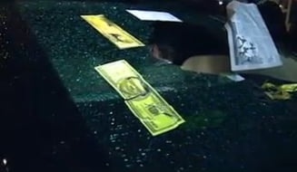 Masina ministrului Barbu, vandalizata - 9 suspecti identificati