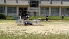 Masina zburatoare care ar trebui sa aprinda torta olimpica deocamdata cade ca un bolovan (Video)