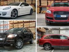 Masini de lux confiscate de stat, scoase la licitatie. Primele oferte: un Audi Q7 si un Porsche Panamera