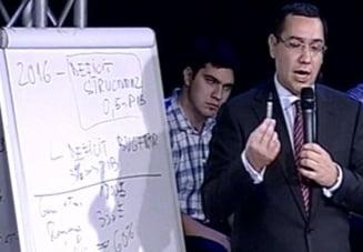Matematica lui Ponta pentru Boc: De unde ar taia bugetul USL