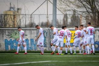 Meci incredibil la Timisoara intre Poli si Rapid in play-off -ul de promovare