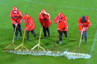 Meciul Voluntari - FCSB, amanat din cauza ploii