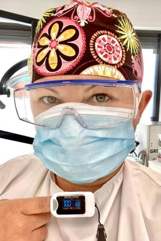 """Medic roman, experiment inedit: """"Stau 8 ore pe zi cu doua masti. Am pus pulsoximetrul si tot astept sa ma ia ameteala. Incep sa ma plictisesc... """""""