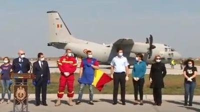 "Medicii trimisi in Italia s-au intors acasa. Orban ii felicita ca au ""transmis o imagine extrem de frumoasa despre Romania"" (Video)"