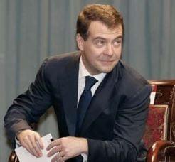 Medvedev l-a felicitat pe Voronin, cu ocazia zilei de nastere