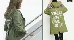 """Melania Trump a purtat o geaca cu inscriptia """"Mie nu imi pasa, tie?"""", in timpul vizitei la un centru pentru copiii imigrantilor"""