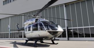 Mercedes isi ia zborul... cu elicopterul