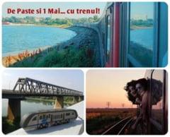 Mergi la mare in mini-vacanta de Paste - 1 Mai? Mai multe trenuri si bilete mai ieftine de la CFR