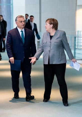 Merkel l-a primit pe Orban la Berlin si a laudat progresul Ungariei
