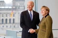 """Merkel sustine ca vrea sa infrunte """"problemele mondiale"""" impreuna cu SUA"""