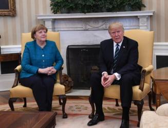 Merkel vs Trump: Ce a spus limbajul corpului despre intalnirea dintre cei doi (Galerie foto)