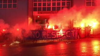 """Mesaj DUR de la Cluj pentru conducerea UEFA. """"FARA RESPECT!"""", acuza fanii CFR. FOTO"""