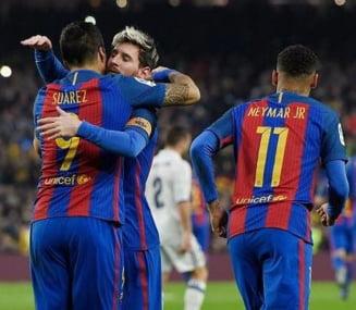 Messi, Suarez si Neymar califica Barcelona in sferturile Cupei Spaniei