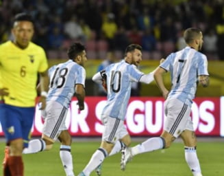 Messi a salvat Argentina de la o rusine istorica (Video)