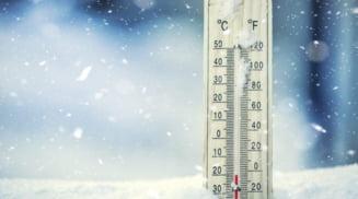 Meteorologii au emis o informare de ger pentru intreaga tara