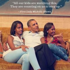 Michelle Obama a marturisit ca fiicele sale au fost concepute prin fertilizare in vitro