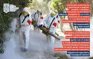 Miercuri, 1 aprilie, dezinfectie la Satu Mare