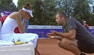 Mihaela Buzarnescu s-a certat cu antrenorul pe teren si a izbucnit in lacrimi