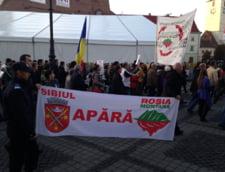 Mii de manifestanti anti-Rosia Montana, in mars prin Bucuresti, Cluj si Sibiu UPDATE