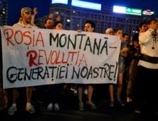 Mii de oameni au protestat duminica in toata tara fata de proiectul Rosia Montana