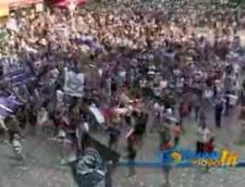 Mii de suporteri ai Poli Timisoara au protestat fata de decizia FRF