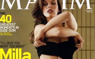 Milla Jovovich - nud in revista Maxim
