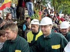 Minerii ameninta cu noi proteste, daca membrii comisiei speciale nu vor merge la Rosia Montana