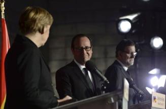 Mini-summitul de la Versailles: Germania, Franta, Italia si Spania sustin intr-un glas Europa cu mai multe viteze