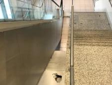 Ministrul Transporturilor, vizita inopinata la Aeroportul Otopeni: Am gasit o mizerie de nedescris in toalete, ziduri rupte, igrasie (Foto)