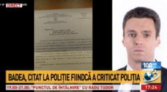 Mircea Badea a fost citat la politie, dupa ce a postat pe facebook mai multe mesaje considerate jignitoare de politisti