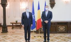 Mircea Geoana, primit la Cotroceni de presedintele Klaus Iohannis. Summitul NATO din iunie, pe agenda discutiilor