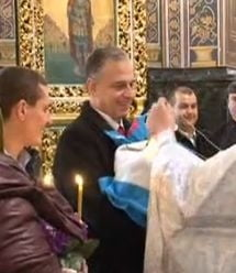 Mircea Geoana a botezat la Chisinau