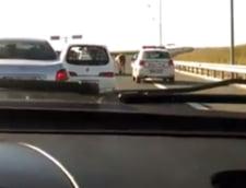 Misiune inedita pentru politisti pe Autostrada Soarelui: Au trebuit sa escorteze ... o vaca (Video)