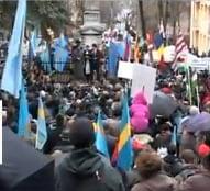 Miting la Tg. Mures: 5.000 de participanti, s-a adoptat o petitie pentru autonomia Tinutului Secuiesc (Video)