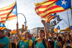"""Miting masiv la Barcelona, organizat de mișcarea separatistă catalană. """"Să luptăm pentru a câştiga independenţa"""""""