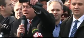 Mitingul Miscarii Populare: 1000 de oameni protesteaza la Guvern: Ponta Victor Viorel, o rusine la Bruxelles!