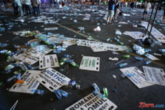 Mitingul PSD: Circa 130.000 de participanti au lasat munti de gunoaie in urma. #Rezist, proiectat pe Guvern in timp ce vorbea Dragnea