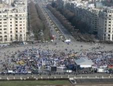 Mitingul din Bucuresti s-a incheiat - vezi desfasurarea evenimentelor (Galerie foto)
