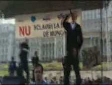 Mitingul din Bucuresti s-a incheiat