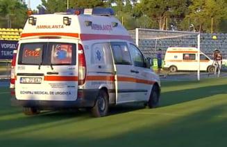 Moment delicat pe un stadion din Liga 1: Doua ambulante au intervenit