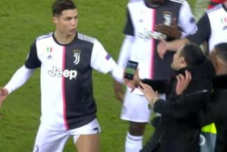 Momente de panica pentru Cristiano Ronaldo: Mai multi fani au intrat pe teren la Leverkusen