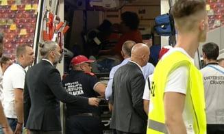 Momente dramatice pe Arena Nationala. Lui Eugen Neagoe, antrenorul lui Dinamo, i s-a facut rau si a fost transportat de urgenta la spital UPDATE